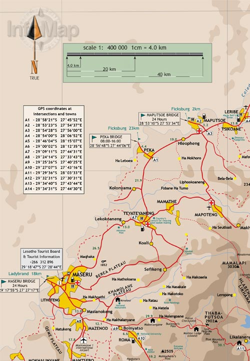 Lesotho Maps Pdf Lesotho Map | Digital Pdf With