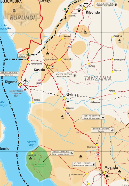 Road Maps Tanzania For Travelling Driving