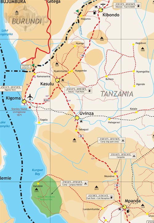 Tanzania map digital pdf with gps coordinates tanzania digital tanzania map1 gumiabroncs Gallery