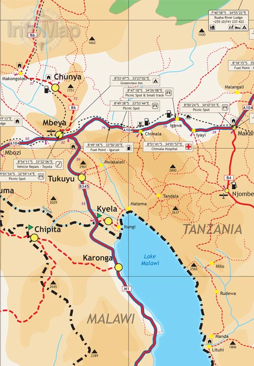 Tanzania map digital pdf with gps coordinates tanzania map3 tanzania map4 gumiabroncs Gallery