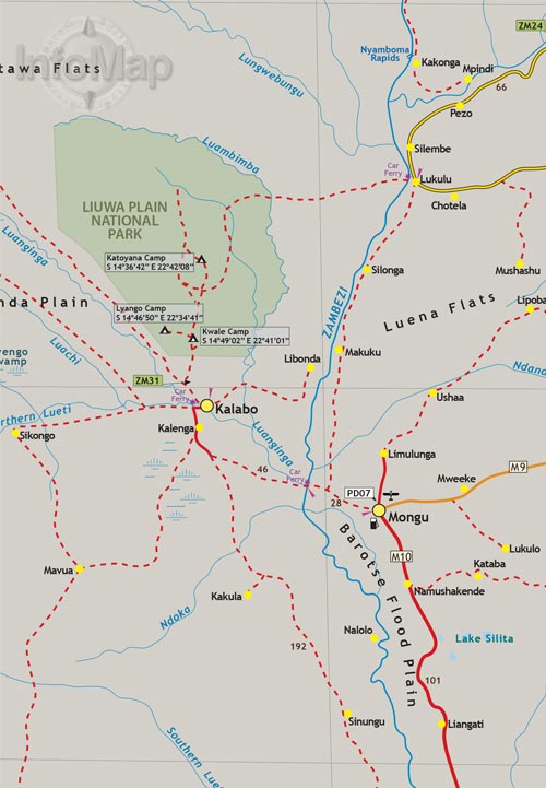 Zambia Map Digital PDF With GPS Coordinates - Zambia map
