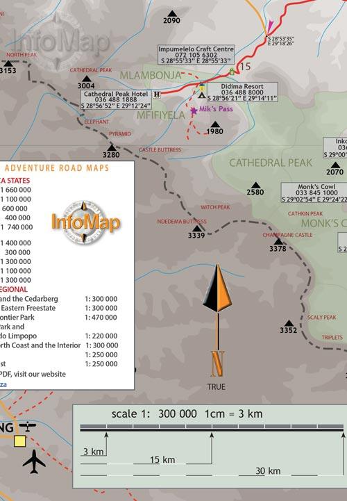 Drakensberg Free State Digital Pdf Map Gps Coordinates