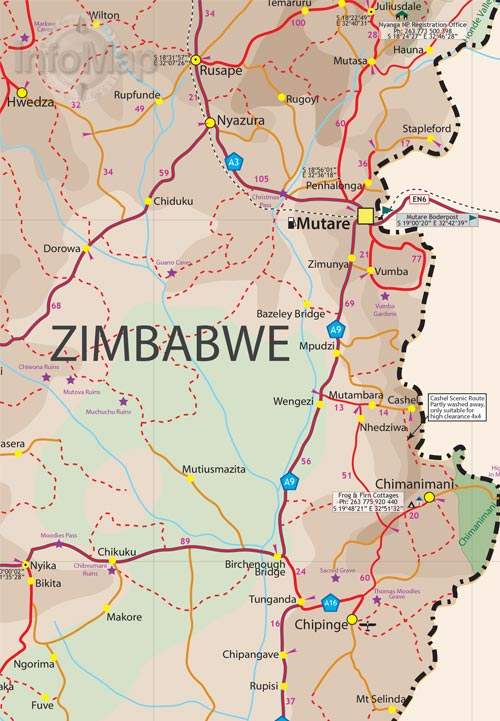 Zimbabwe map digital pdf with gps coordinates zimbabwe digital zimbabwe map4 gumiabroncs Gallery
