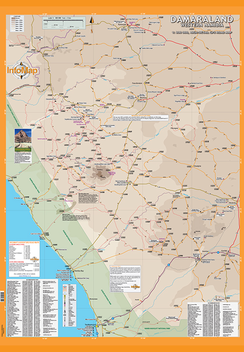Damaraland western namibia map digital pdf with gps coordinates damaraland digital damaraland whole map gumiabroncs Gallery