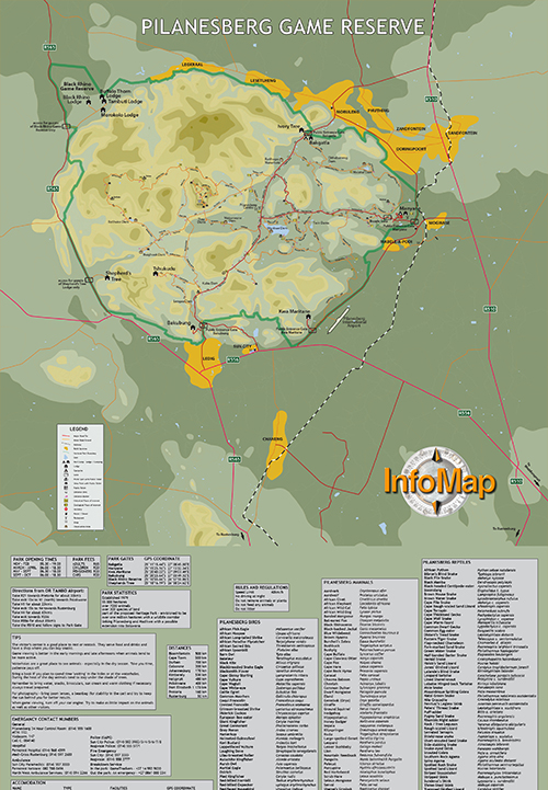 PILANESBERG FULL MAP